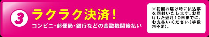 3.ラクラク決済!